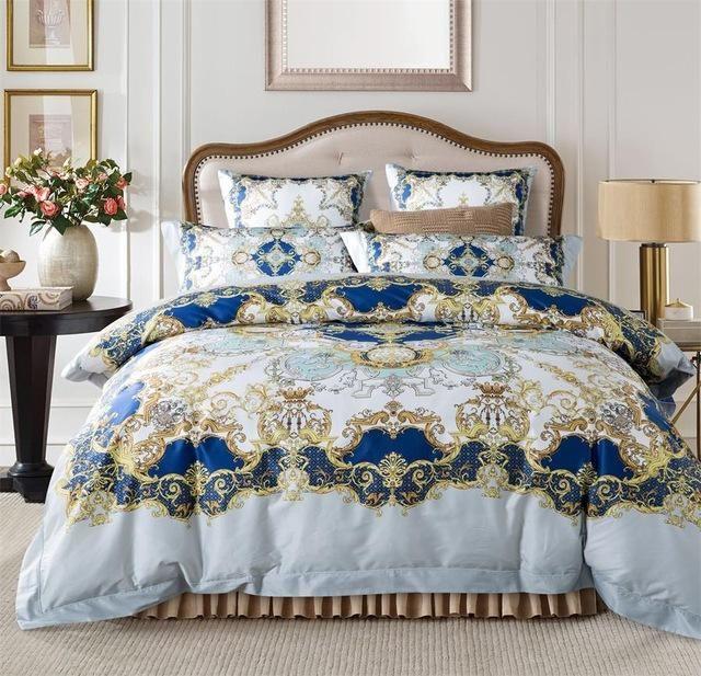 Egyptian Cotton Boho Luxury Duvet Cover And Sheet Set Queen King Size Floessence Luxury Duvet Covers Queen Bedding Sets King Bedding Sets