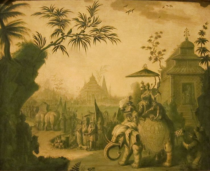 Jean-Baptiste Pillement - A chinoiserie procession of figures riding ...
