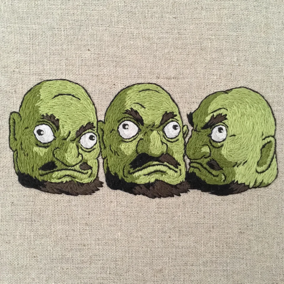 The heads from Spirited Away (or 3 Shreks if that's more