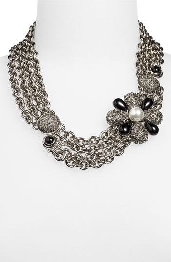 St. John Collection Faux Pearl & Beaded Multi Chain Necklace available at #Nordstrom