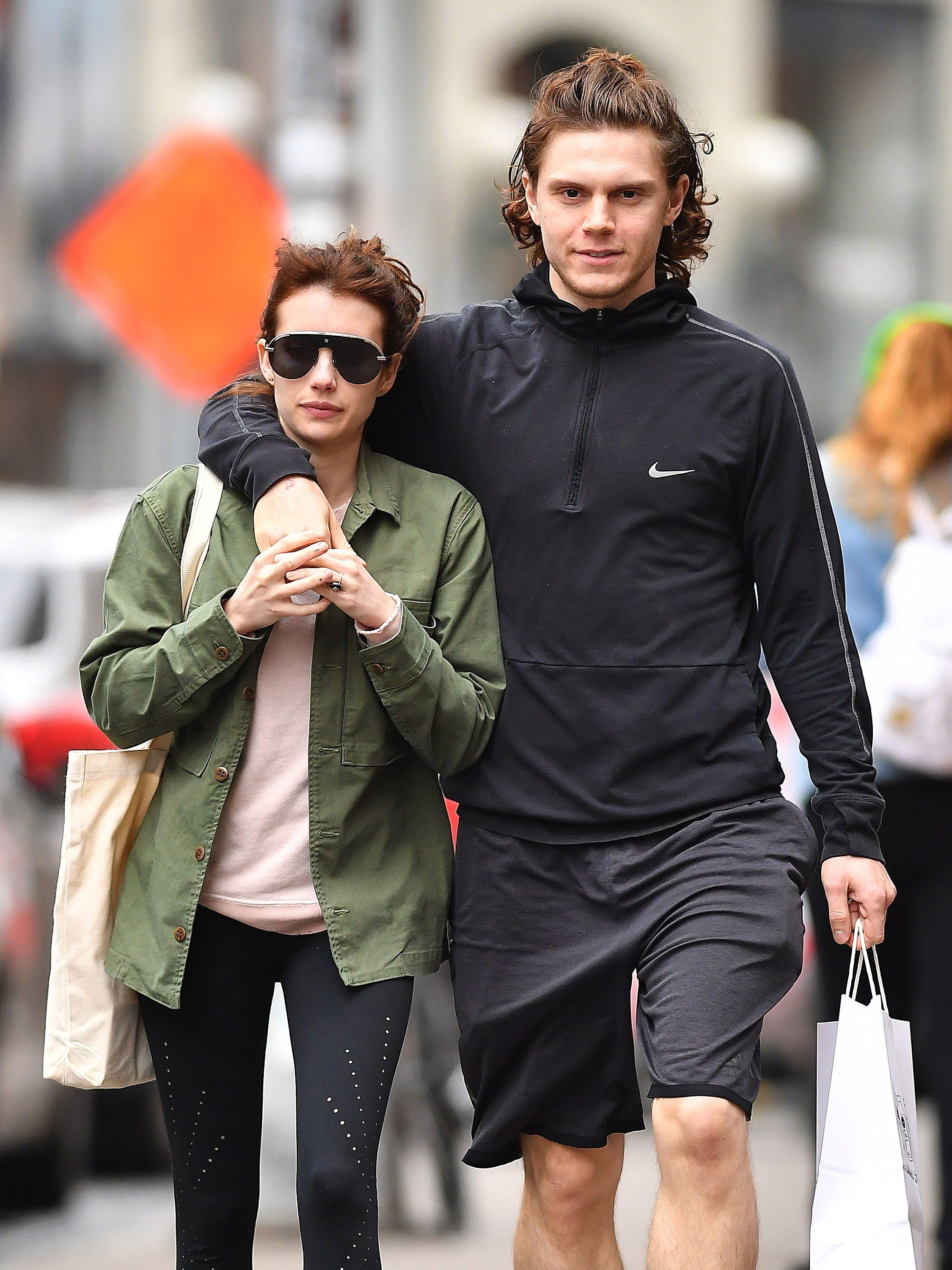 Emma Roberts And Evan Peters Have A Low Key Hair Twinning Moment