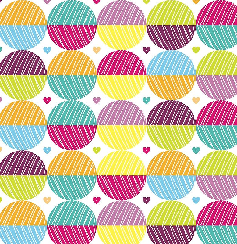 Retro,polka dots,big,cool,pattern,red,hot pink,yellow,orange,green,lime,purple