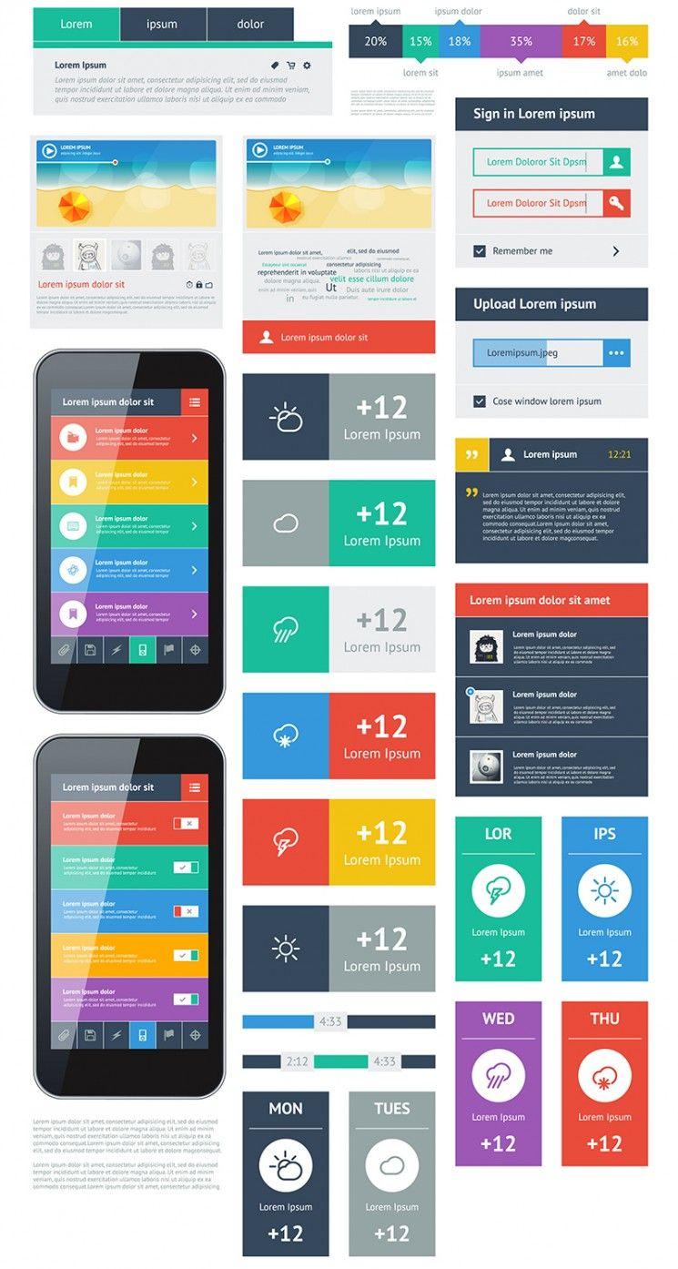 15 Premium Flat Ui Design Templates Boost Your Production Web