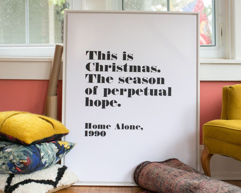 the most brilliant home alone print happy christmas via so fawned rh pinterest com