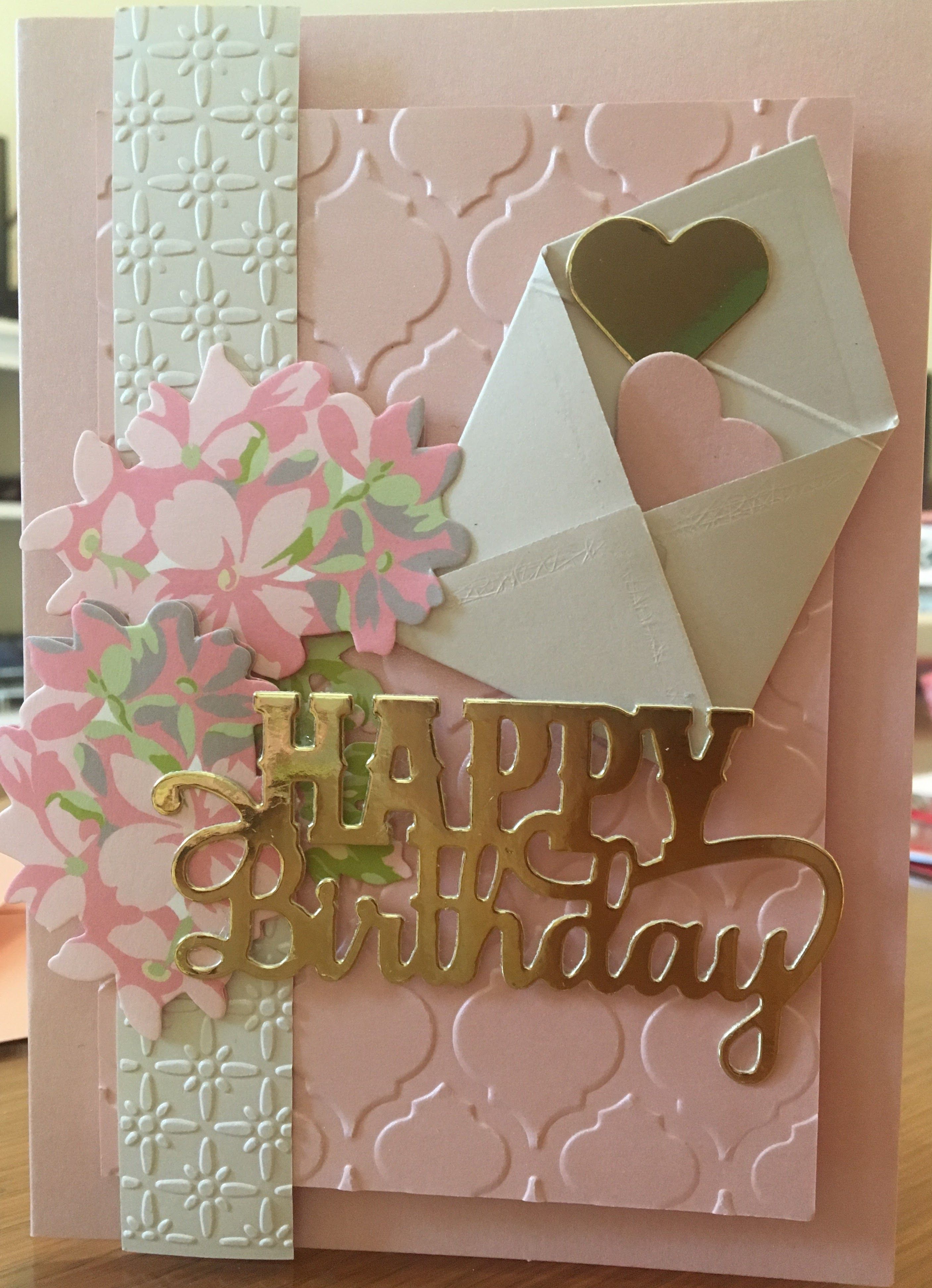 Hand cradted birthday card colorblock by lisa ku stamped