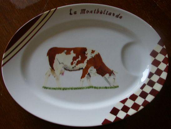 Vache montb liarde porcelaine art de la table porcelaine peinture sur porcelaine et vache - Vache normande dessin ...