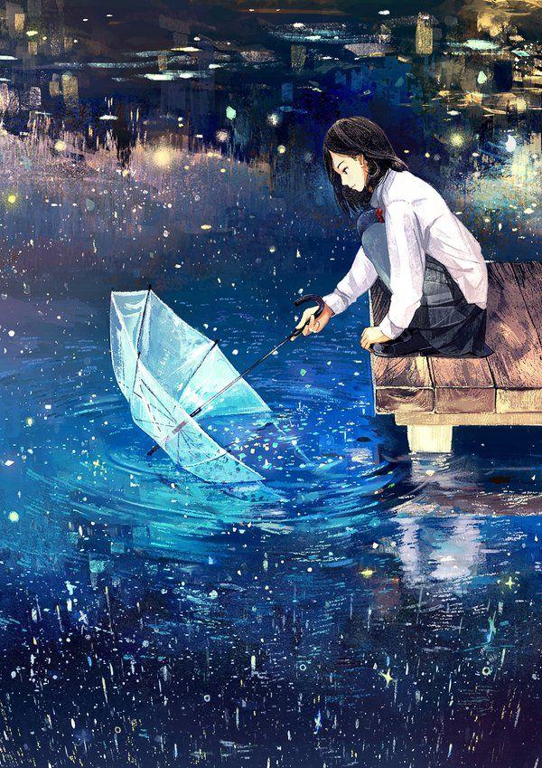 Аниме цвет неба и цвет воды