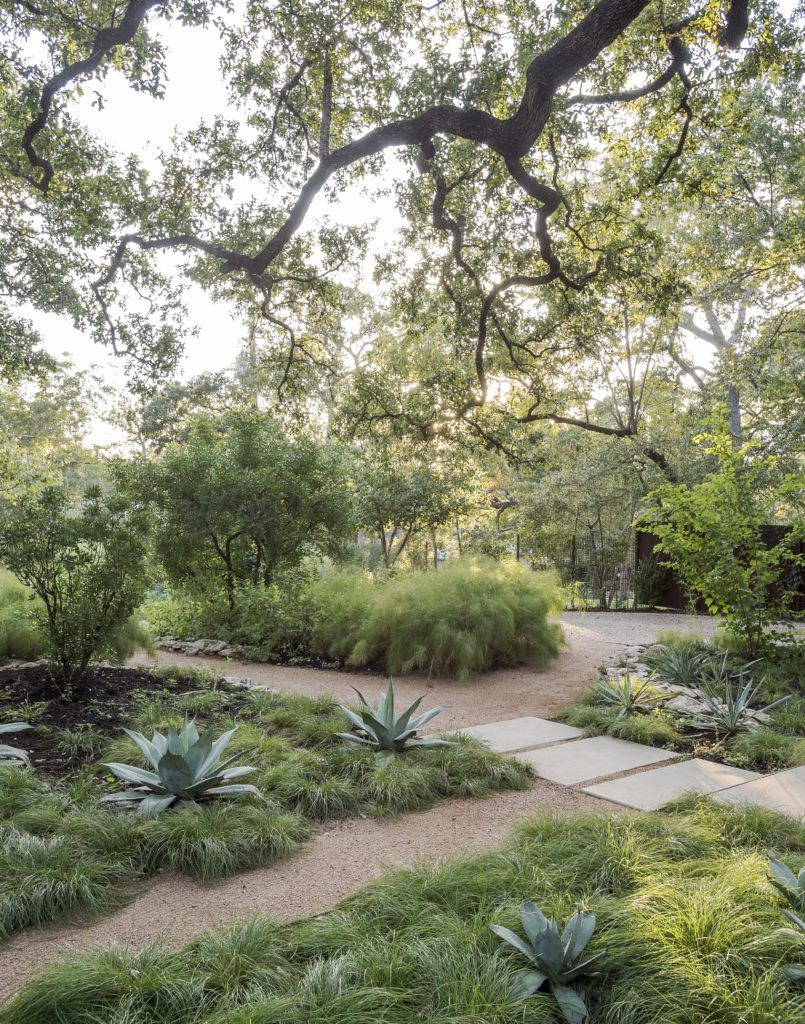 Decomposed Granite Fills The Gap In Landscape Architect Christine Ten Eyck S No Water Garden Austin Texas Photograph By Matthew Williams