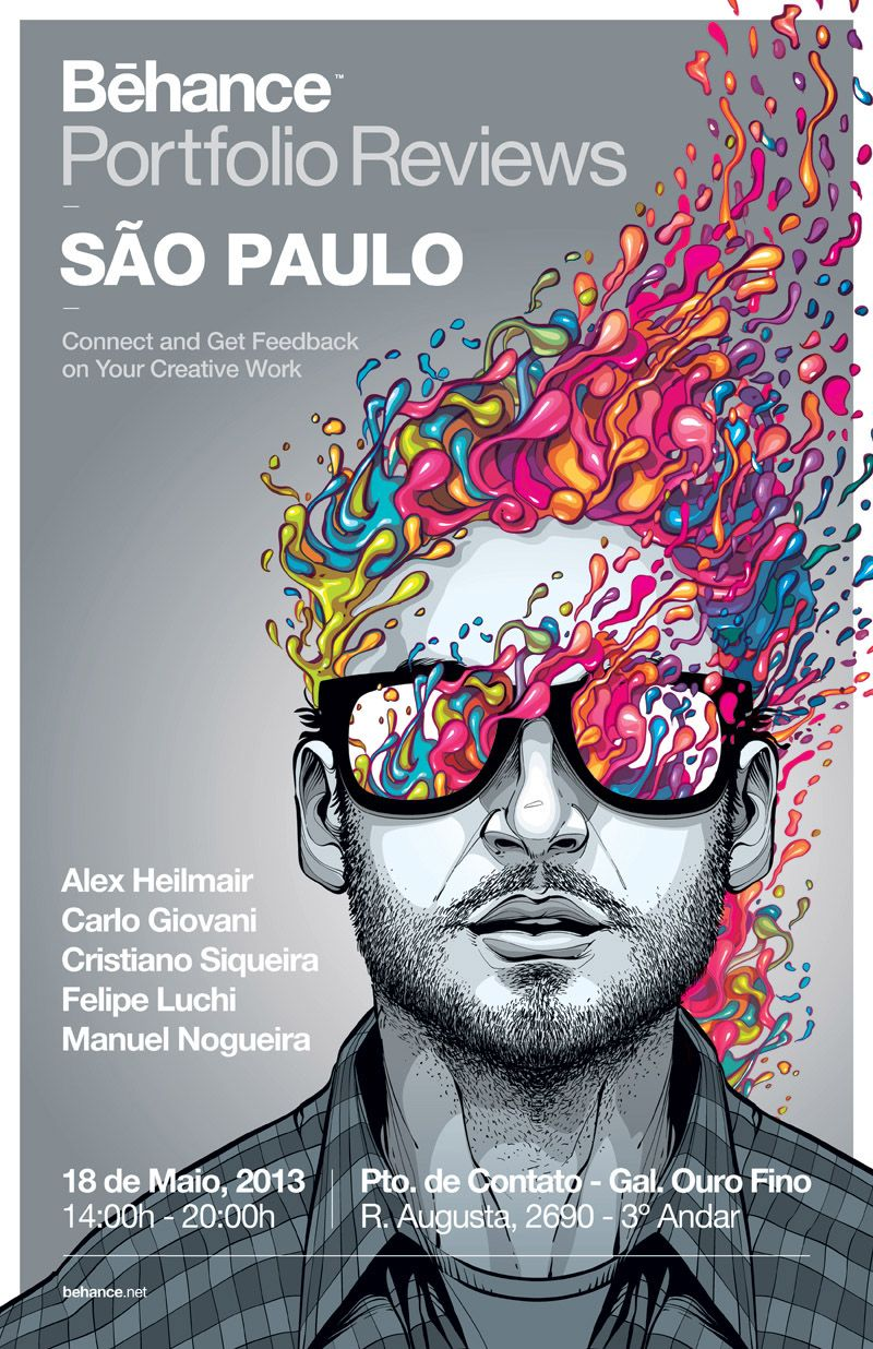 Behance Porfolio Reviews São Paulo - Poster on Behance