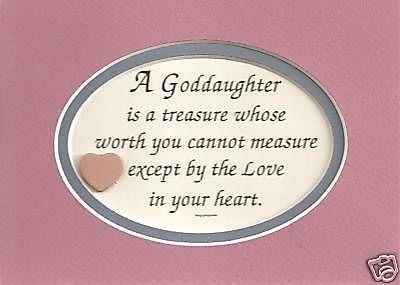 GODDAUGHTER Treasure Worth Measure LOVE IN HEART Children Verses Poems  Plaques. Goddaughter QuotesGoddaughter ...