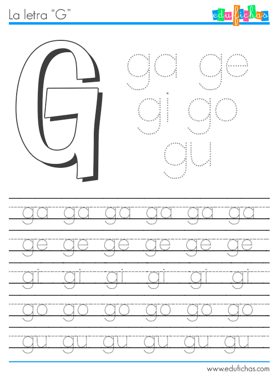 Sílabas con G… | Letra G | Pinterest | Zeichen, Buchstaben und Kind