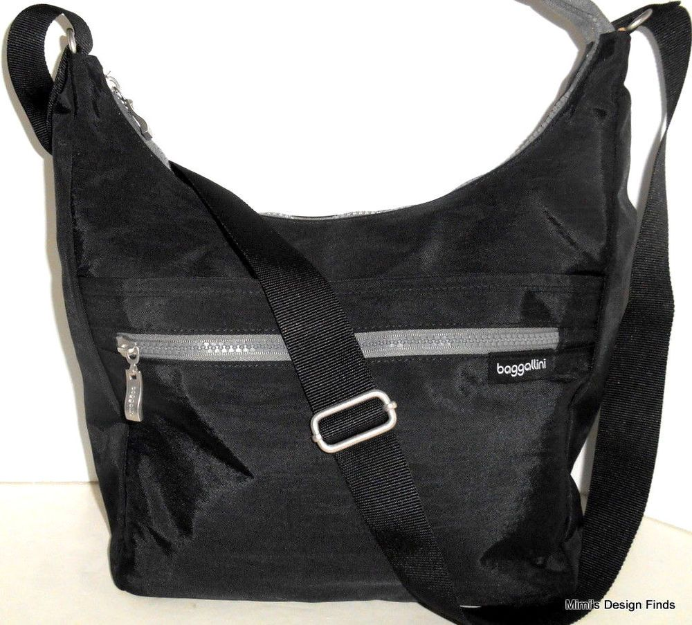 b6f92b4021 Bag · BAGGALLINI Sidekick Large HOBO Crossbody NEW Black Nylon Cargo  Shoulder ...