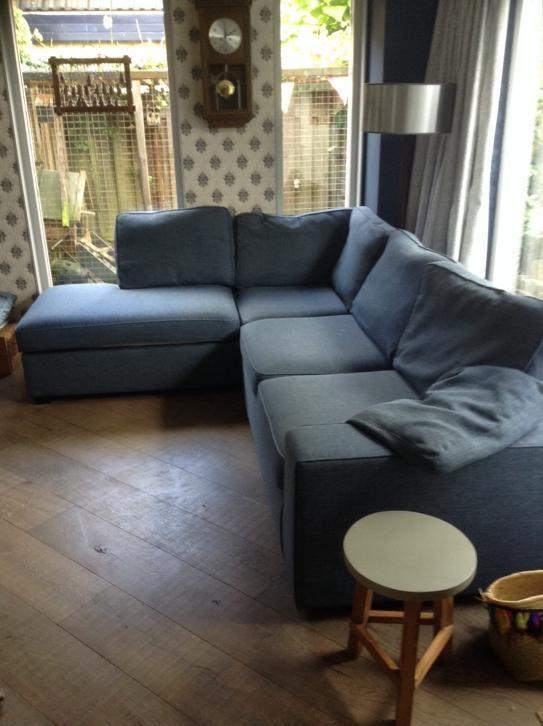 Hoekbank Blauw Grijs.Comfortabele Mooie Hoekbank Blauw Grijs Saturnushof Couch