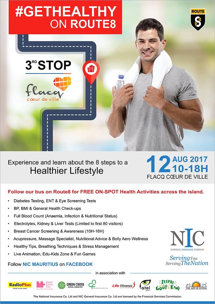 Nic Mauritius Gethealthyonroute8 Tel 602 3000 Health