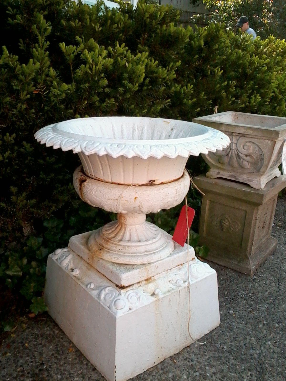 Antique Pair Cast Iron Urn Handles By Plainandelegant On Etsy 125 00 Garden Urns Vintage Garden Urn