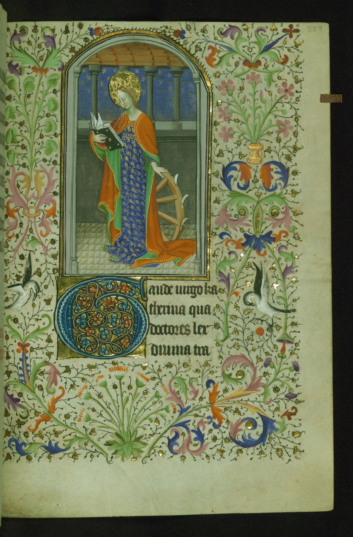 Malet-Lannoy Hours, St. Catherine, Walters Manuscript W.281, fol. 239r by Walters Art Museum Illuminated Manuscripts http://flic.kr/p/zFnPQx