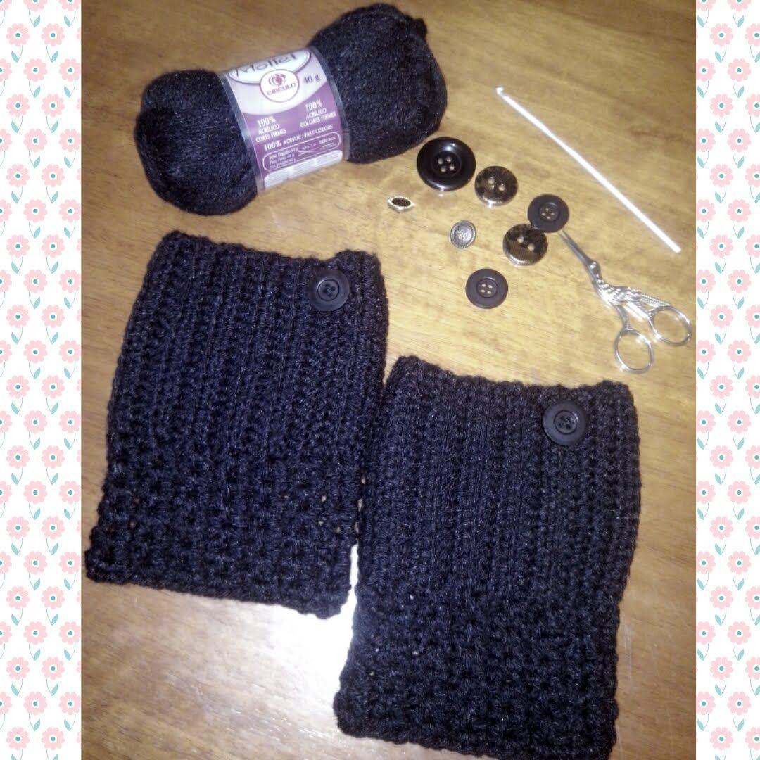 Boot cuff em crochê (punho de botas) | Acessórios de crochê | Pinterest