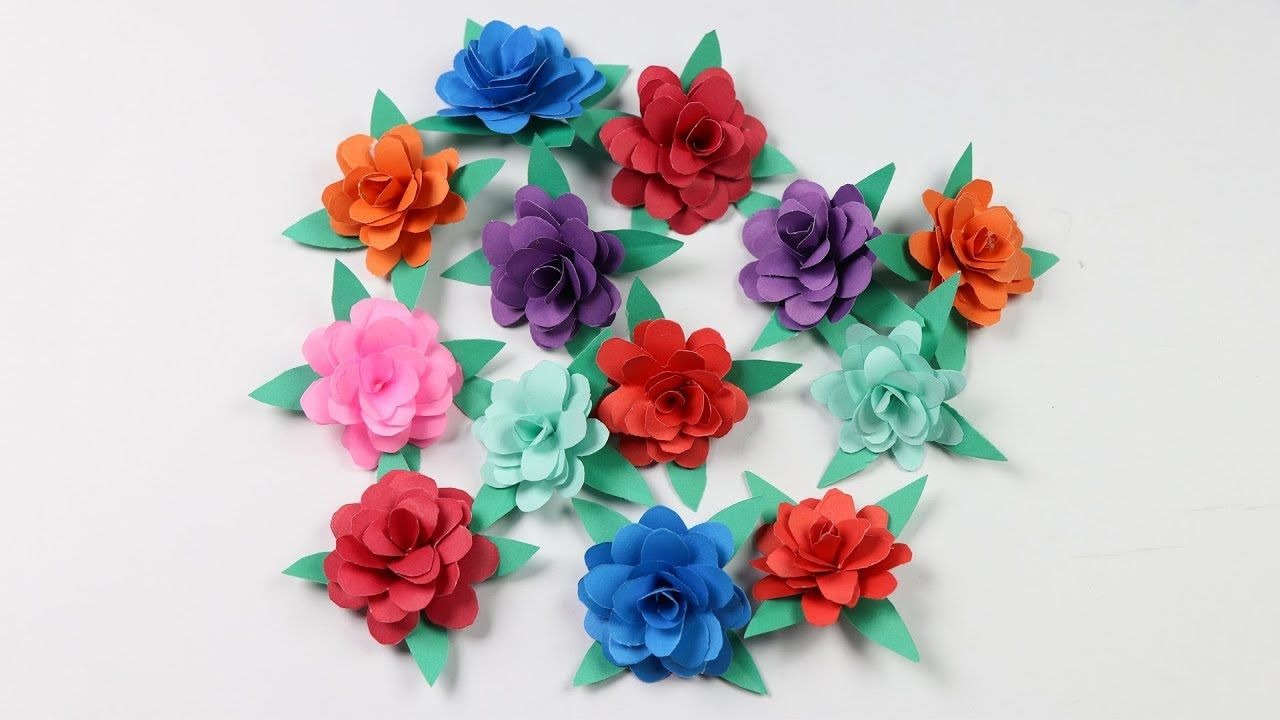 How To Make Small Paper Rose Flower Diy Paper Crafts Paper