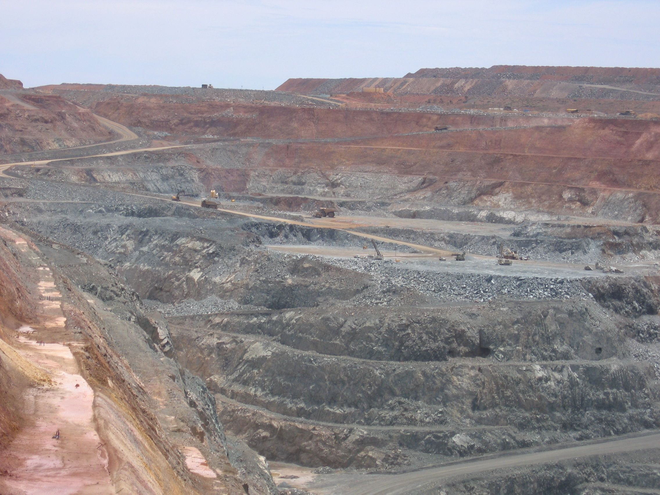 The Kalgoorlie super pit gold mine  Outback Australia