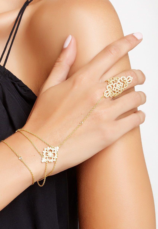 Swarovski Crystal Shamerah Hand Bracelet