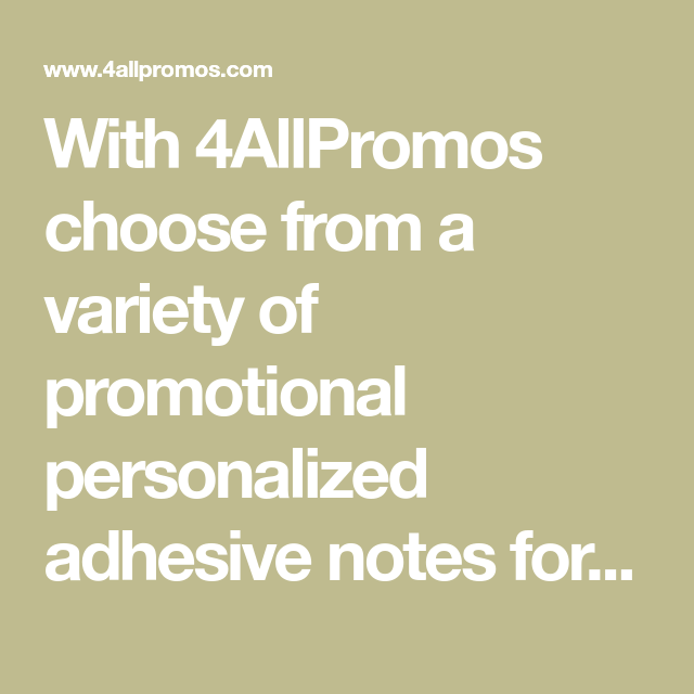 With 4allpromos Choose From A Variety Of Promotional Personalized