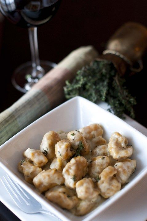 Sweet Potato Gnocchi with Stilton and Herb Cream