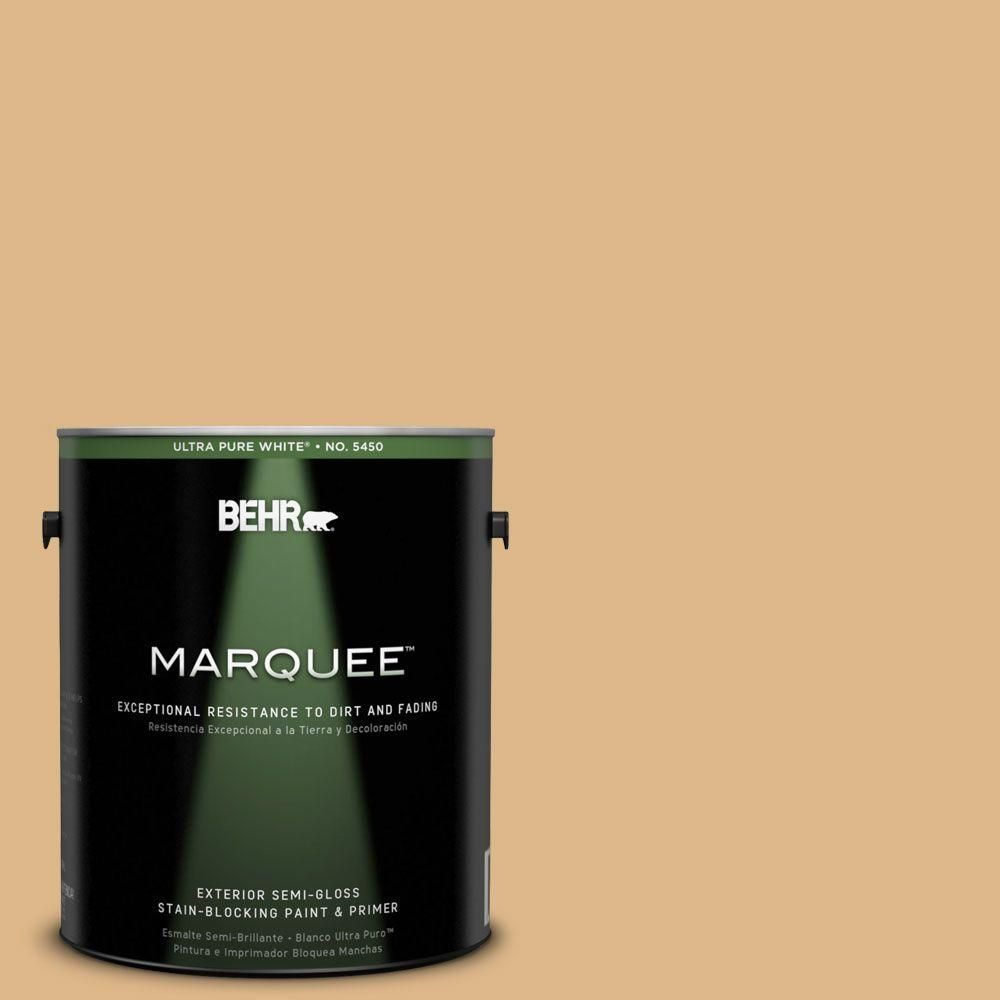 BEHR MARQUEE 1-gal. #UL150-4 Fortune Cookie Semi-Gloss Enamel Exterior Paint