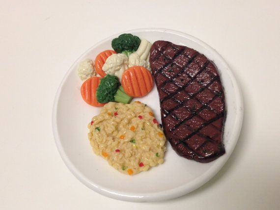 """18/"""" doll BROCOLLI PLATE~vegetable~dinner food~fits American Girl Our Generation"""