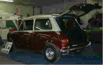 Ringo bought his Radford de Ville Mini Cooper from Brian Epstein in 1967. He modified it by adding a hatch to the back to accommodate his drum kit.