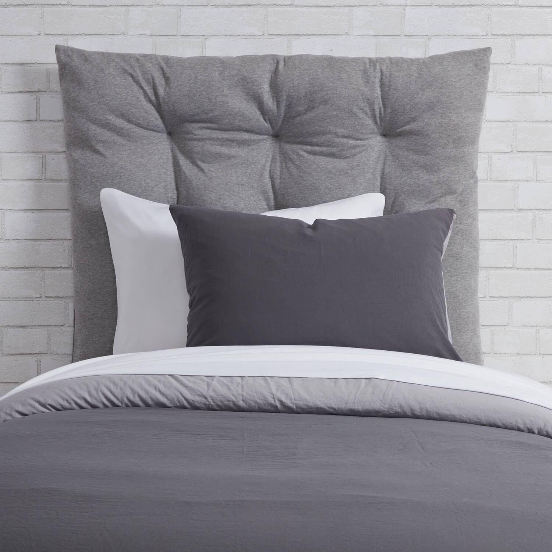 Twin/Twin XL Velvet Tufted Headboard Cushion Grey