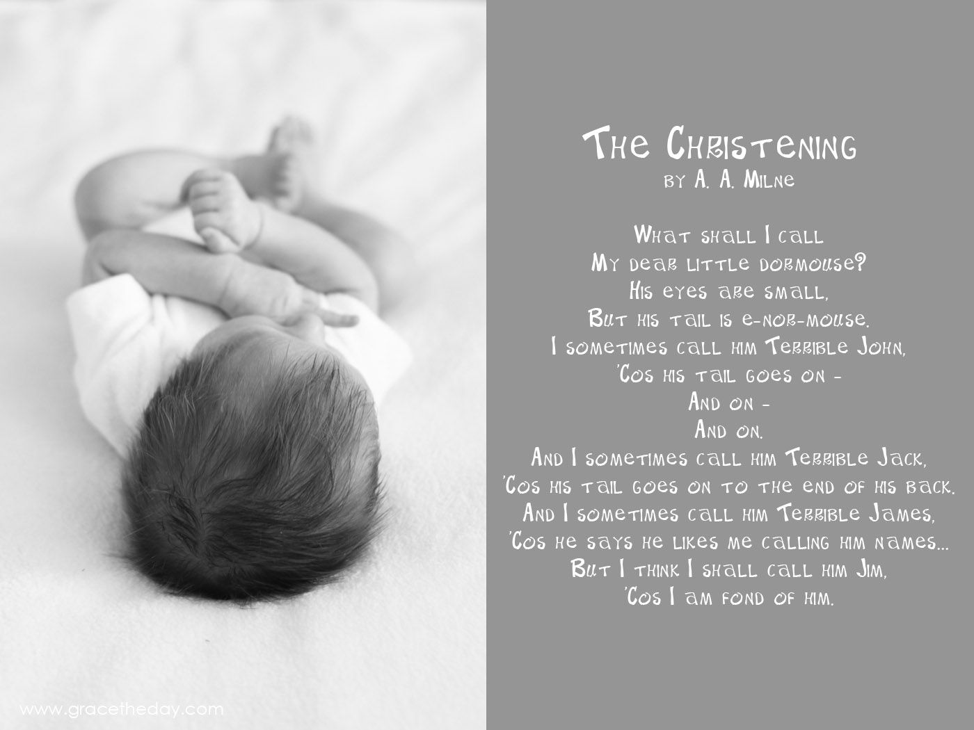 The Christening By A Milne Www Gracetheday