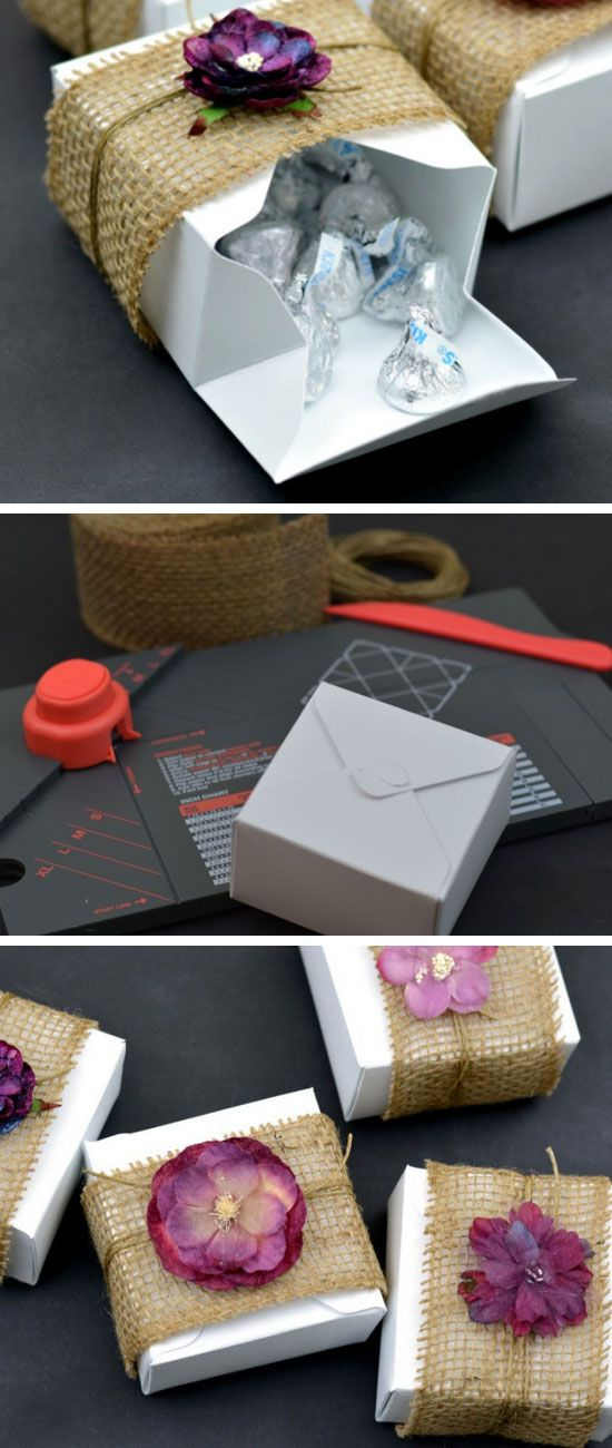 Burlap & Floral Rustic DIY Gift Boxes | Click Pic for 25 DIY Wedding Decorations on a Budget | DIY Rustic Wedding Decor Ideas on a Budget