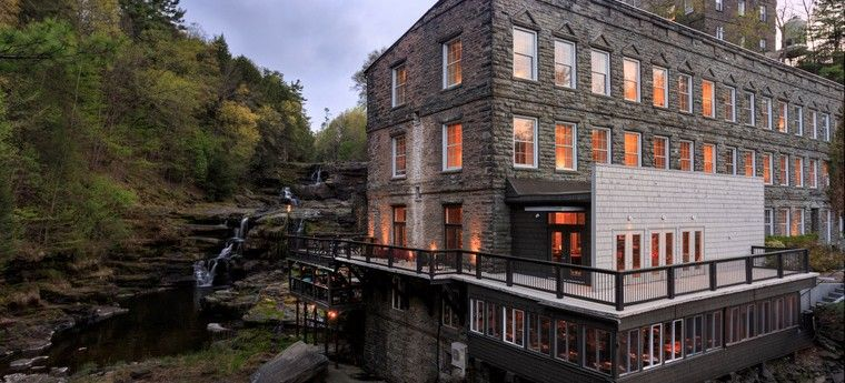 Ledges Hotel In The Poconos Made From A Converted Gl Factory Gorgeous Modernist Renovation