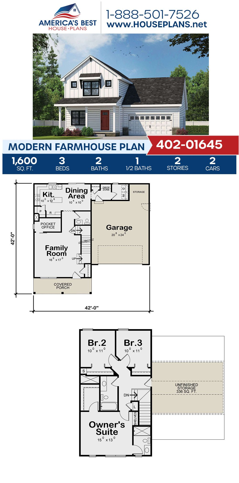 Modern Farmhouse Plan 402