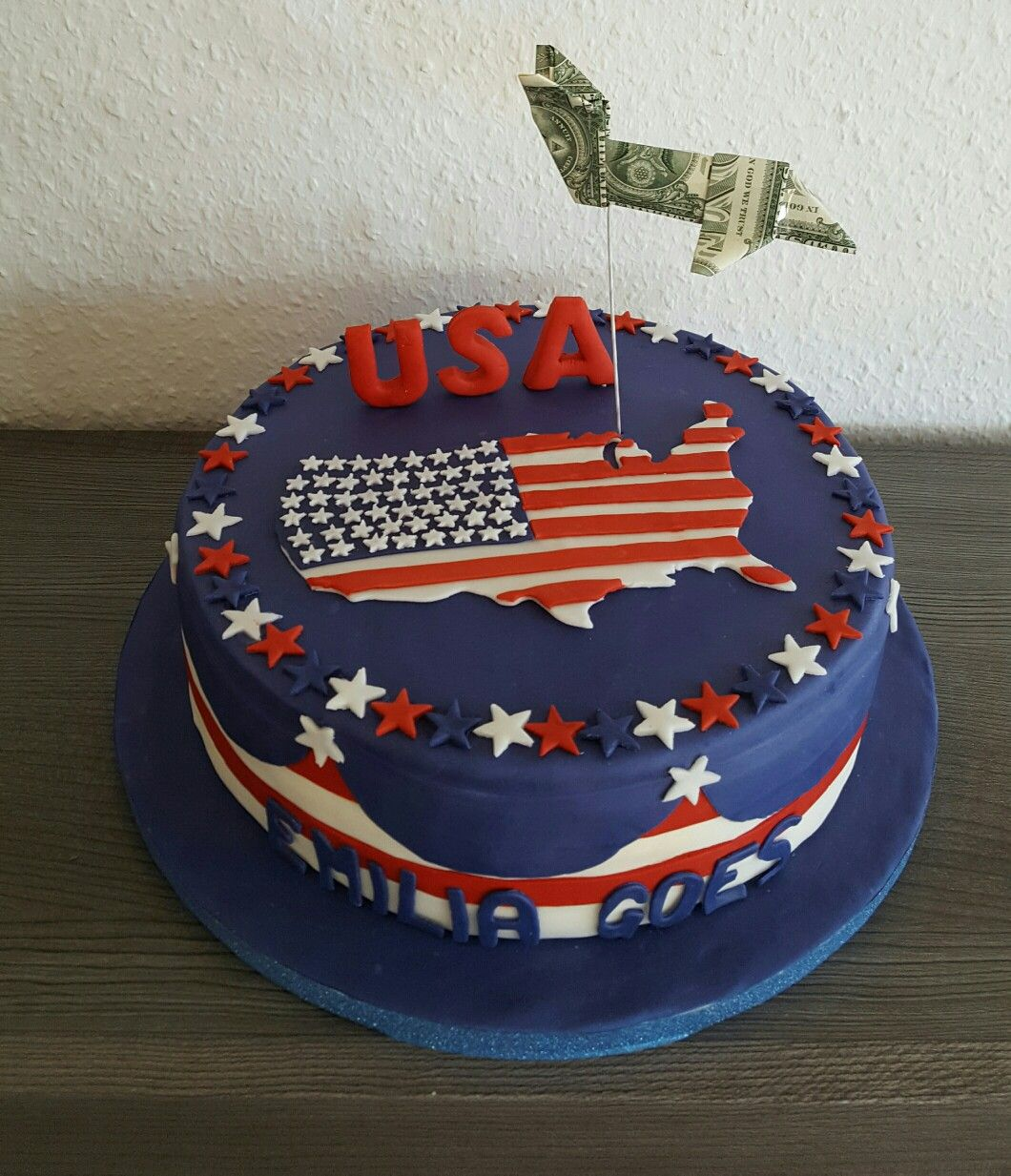 Usa Torte Fondant Flugzeug Usa Cake Fourth Of July Cakes