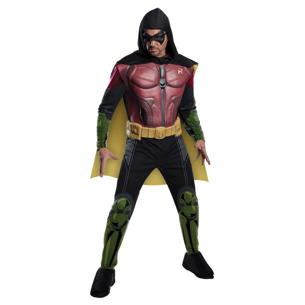 Adult DC Comics Robin Arkham Halloween Costume M