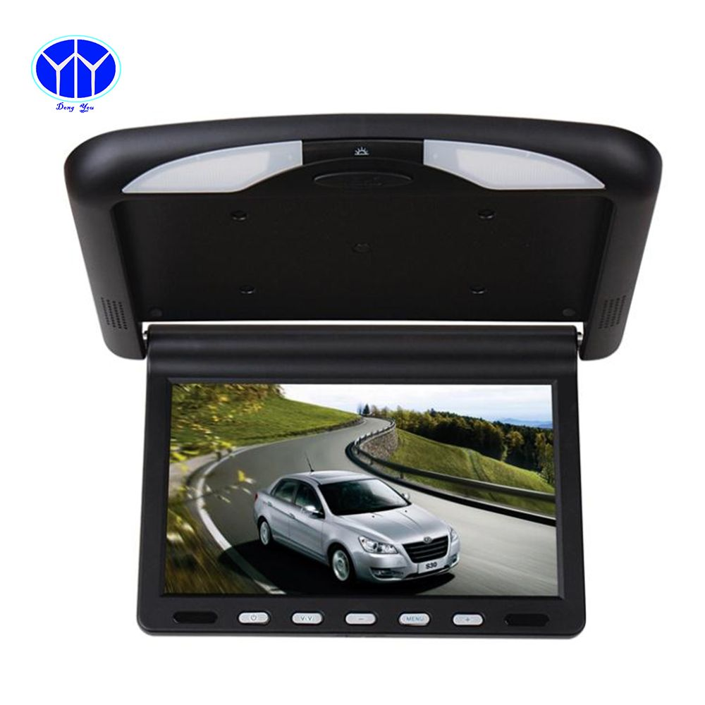 10 1 Inch Tft Lcd Car Monitor Roof Mount Ceiling Flip Down For Peugeot Display Dvd Player Ir Emission Video Auto Slim Dvd Player Car Dvd Players Connected Car