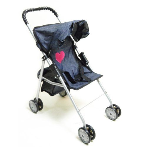 My First Doll Stroller Denim For Baby