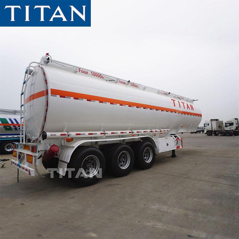 3 Axles Drawbar Trailer For Transport Of Petrol 3 Axle Fuel Tanker Trailer Trailer Manufacturers Semi Trailer Trailers For Sale