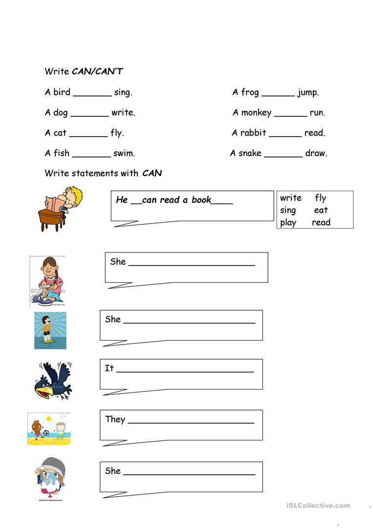 Can Cant Worksheet Free Esl Printable Worksheets Made By Teachers Learning English For Kids English Activities For Kids Kindergarten Learning [ 1079 x 763 Pixel ]