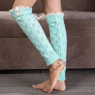 Women Knit Leg Warmers with lace edge Lacey look Knit leg warmers with lace and button detail.  #LadiesAccessories   DESCRIPTION Lacey look Knit leg warmers with lace and button detail. These soft leg warmers fit perfectly under boots.