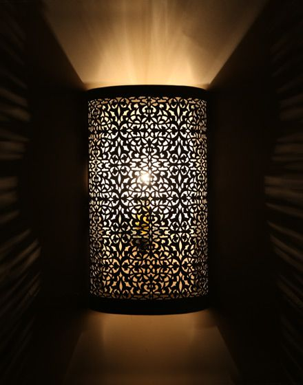 Laylia wall light fixture nickel moroccan walls and lights moroccan wall light silver finish aloadofball Images