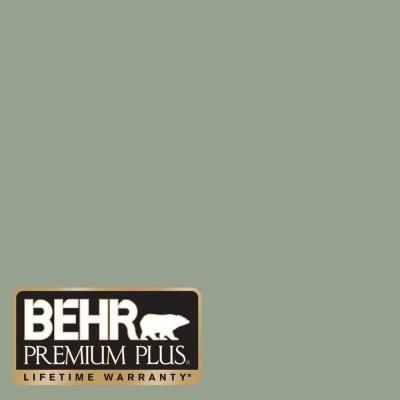 BEHR Premium Plus 1 Gal. #N390 4 Bitter Sage Semi Gloss Enamel Interior  Paint