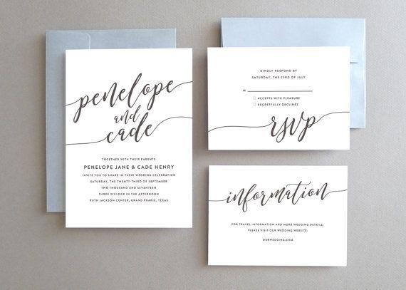 Unique Wedding Invitation Printable