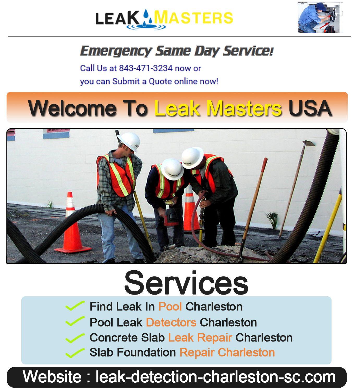 Pin By Leak Detection Charleston Sc On Gas Leak Detection Leak Repair Slab Leak Foundation Repair