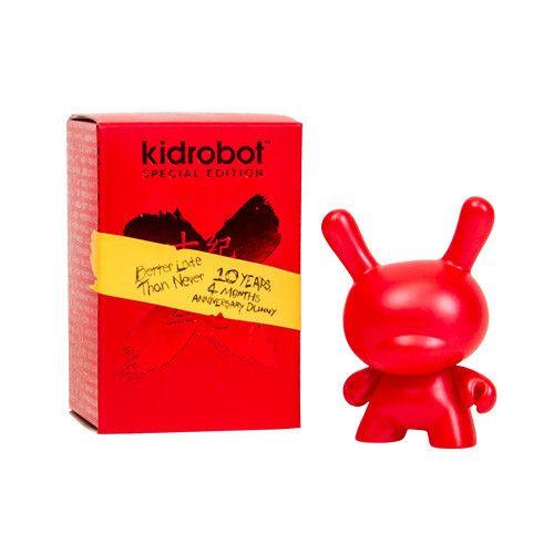 """Red New Kidrobot MAD Holidape Dunny Christmas 2013 Edition 3/"""""""