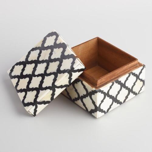 Jali Bone And Resin Box Resin Box Bone Inlay Furniture Global Decor