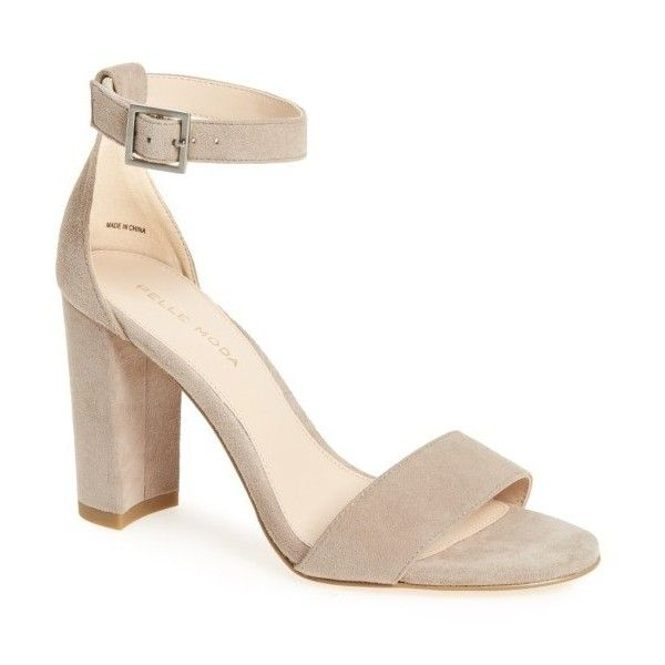 Women's Pelle Moda 'Bonnie' Ankle Strap Sandal (195 AUD) ❤ liked on  Polyvore featuring shoes, sandals, mushroom leather, wrap sandals, leather  ankle strap ...