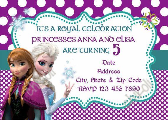 Disney Frozen Birthday Party Invitation by Chikoli on Etsy - invitation birthday frozen