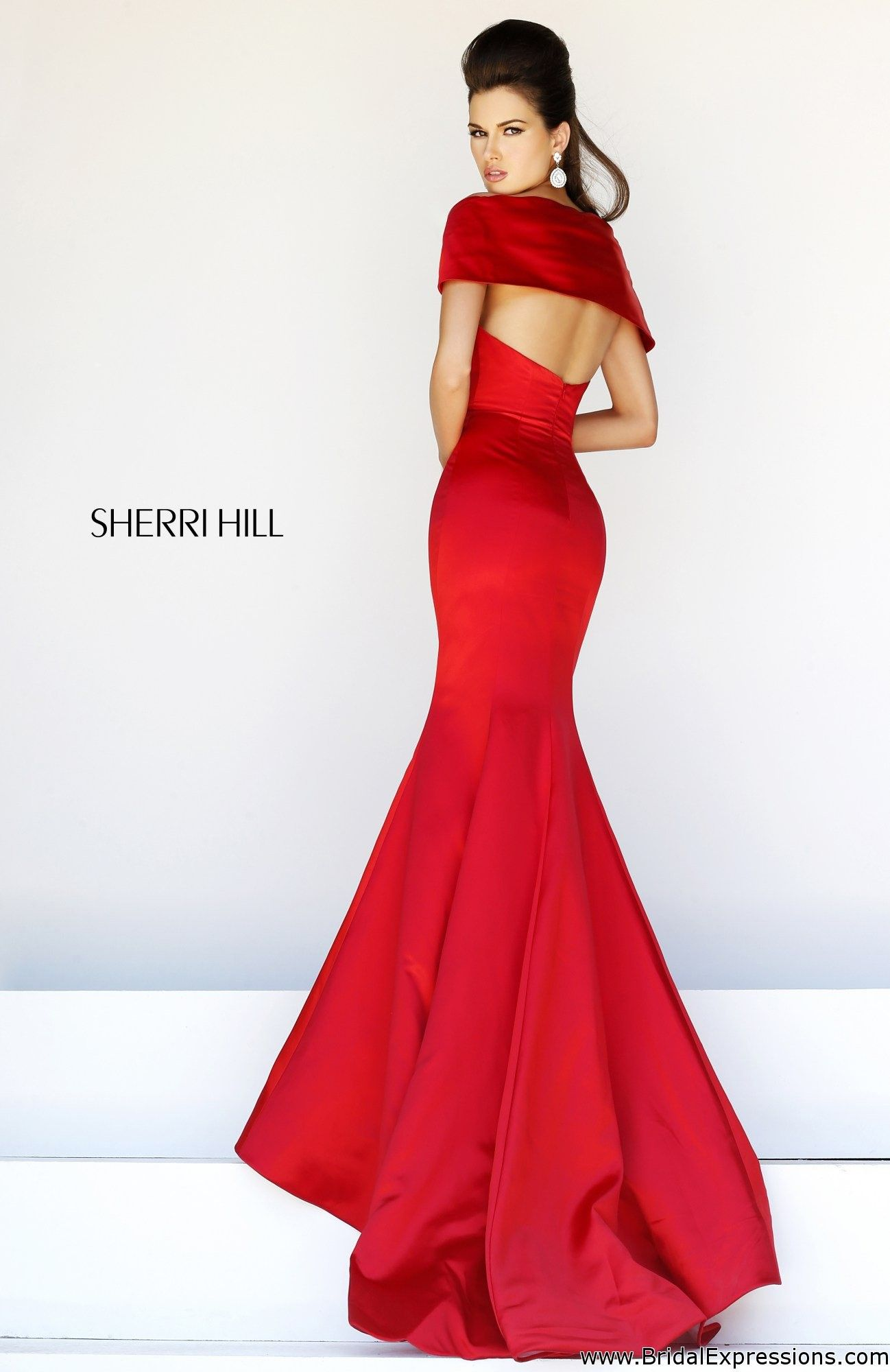 Sherri hill satin mermaid prom dress prom dresses